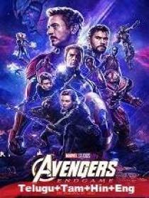 Avengers Endgame (2019) 720p BluRay Original [Telugu + Tamil + Hindi + Eng] 1.9GB ESub